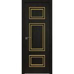 Дверь Дарк браун №56 ZN 2000*800 багет золото глянец, кромка ABS c 4-х сторон в цвет