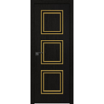 54ZN 800*2000 Даркбраун кромка ABS в цвет Багет внеш. золото глянец БЕЗ ЗПП БЕЗ ЗПЗ